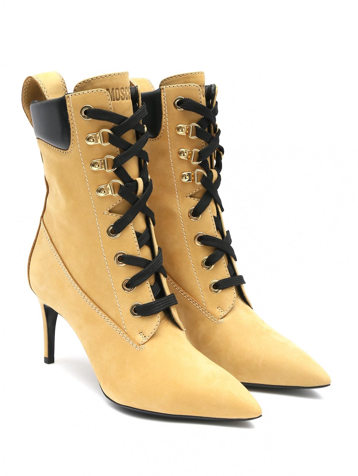 Ботильоны из кожи на шнурках Moschino  –  Общий вид
