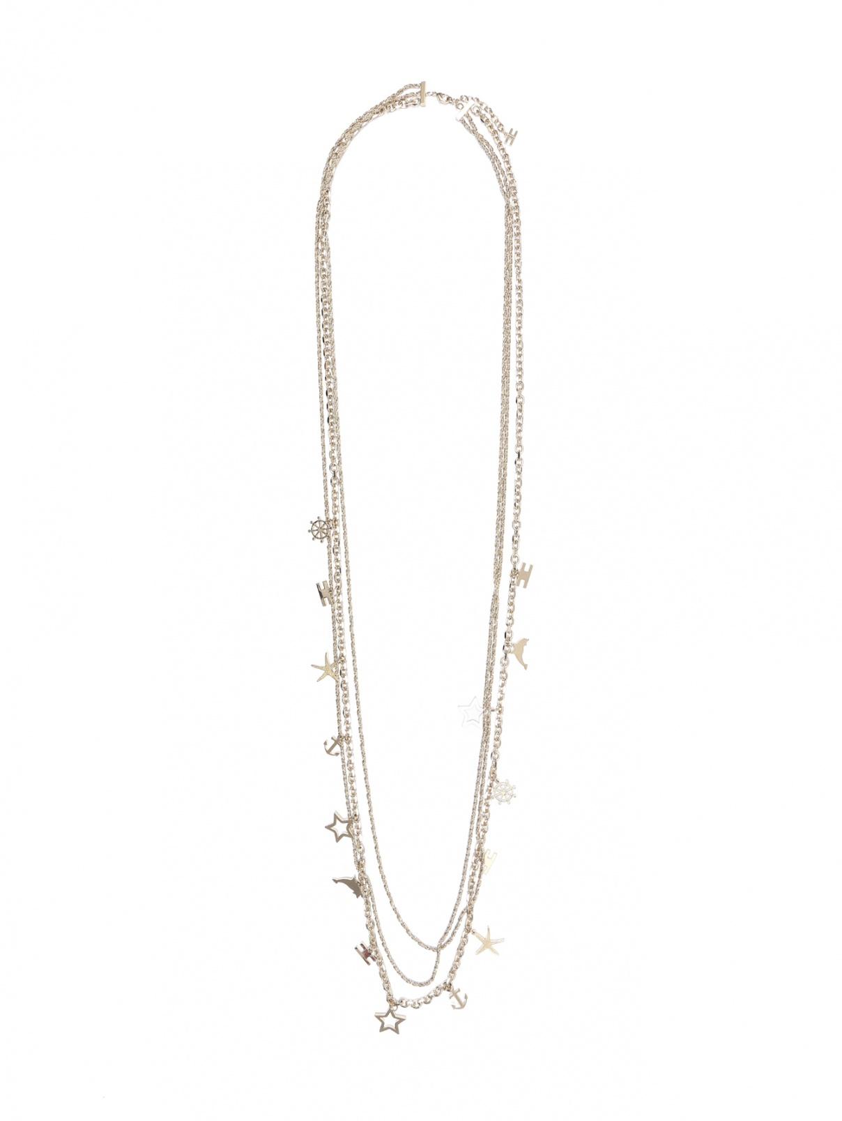 Ожерелье из 3х цепей с подвесками Elisabetta Franchi  –  Общий вид