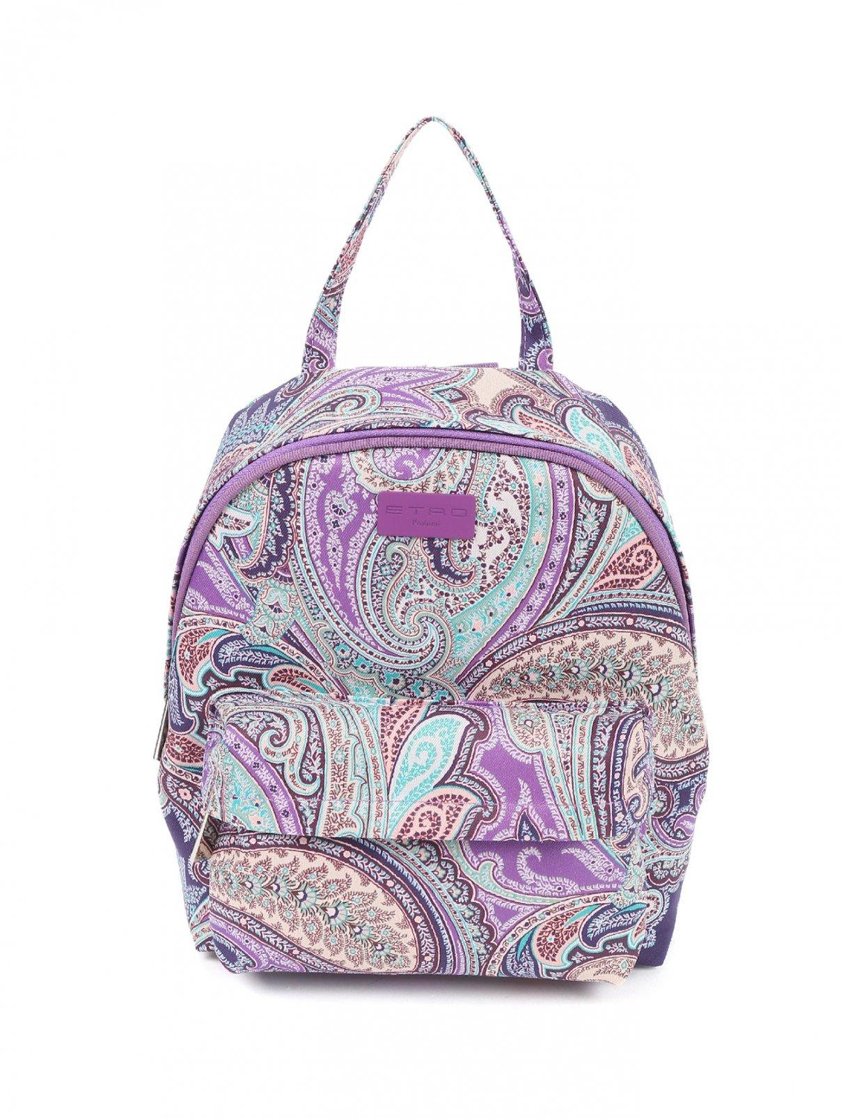 Рюкзак текстильный с узором пейсли Etro  –  Общий вид