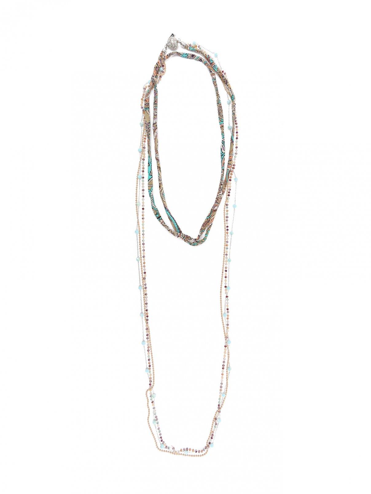 Удлиненное ожерелье с узором Etro  –  Общий вид