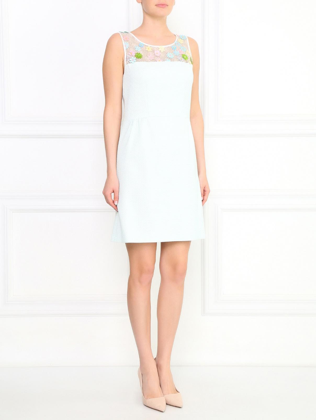 Платье-мини с цветочной аппликацией Sage and Ivy  –  Модель Общий вид