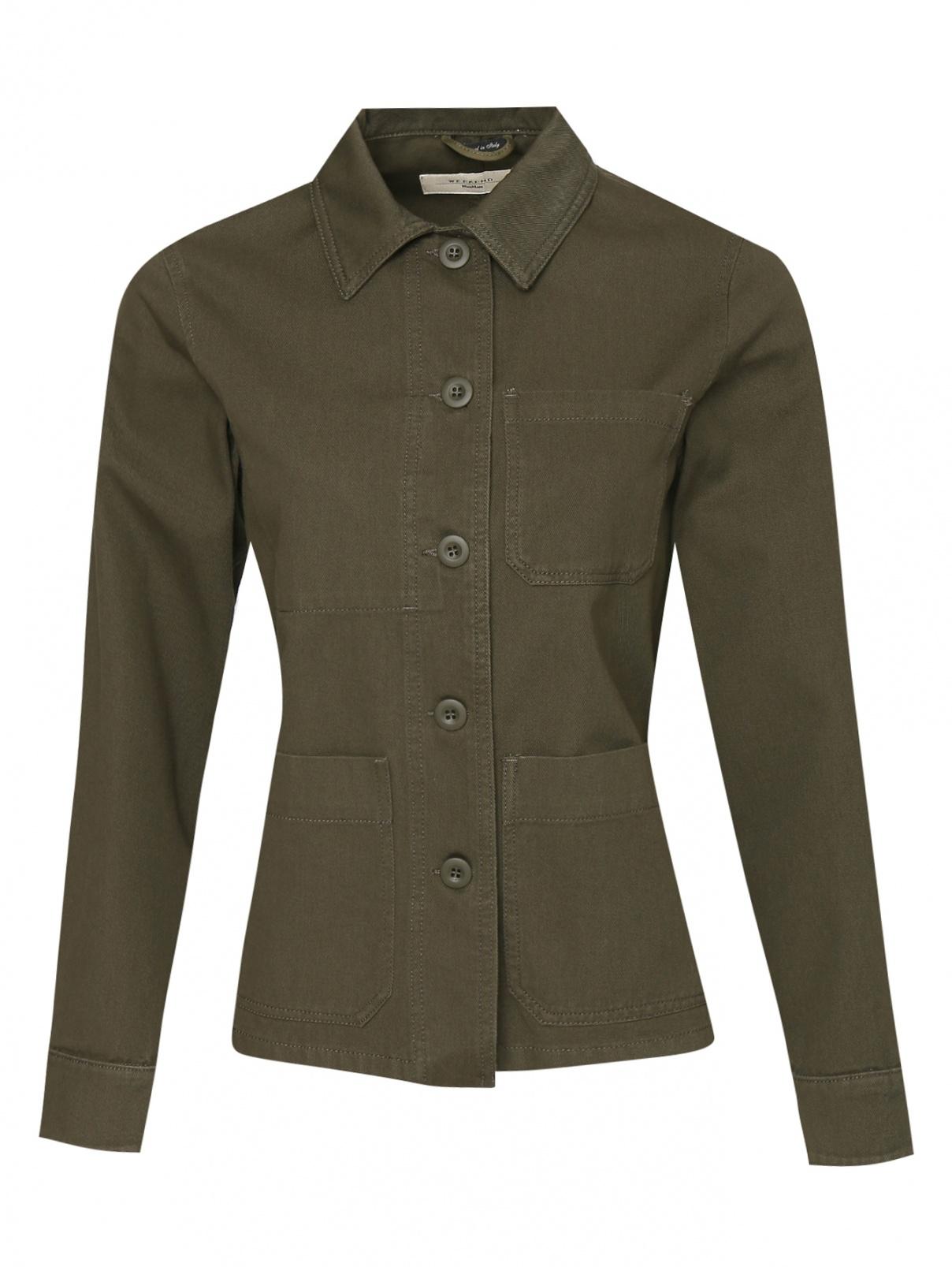 Джинсовая куртка с карманами Weekend Max Mara  –  Общий вид