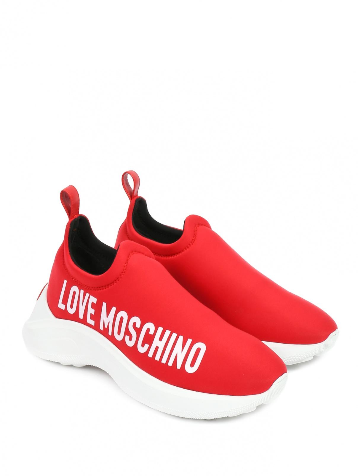 Кроссовки с принтом Love Moschino  –  Общий вид