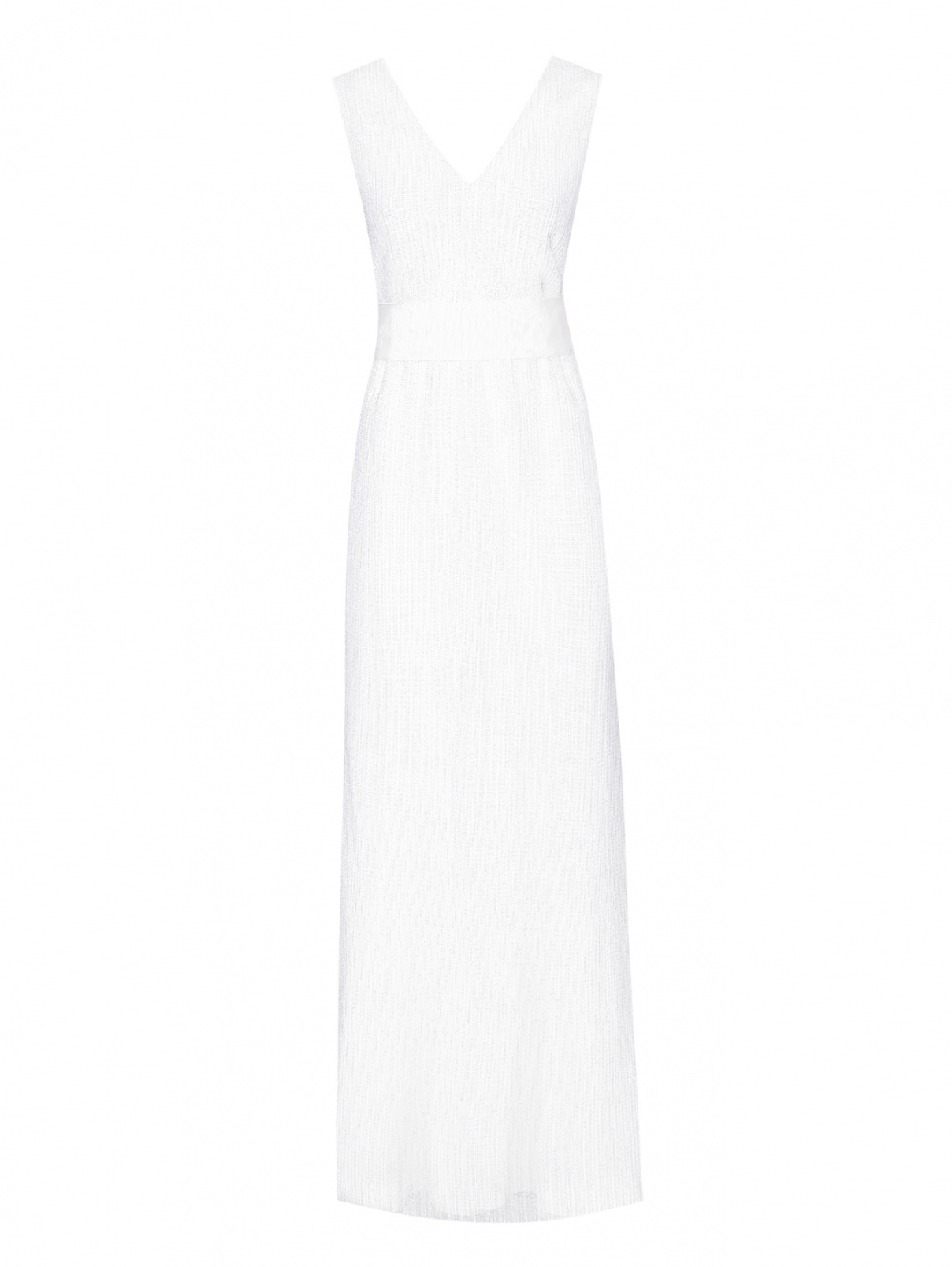Платье в пайетках с поясом Max Mara  –  Общий вид
