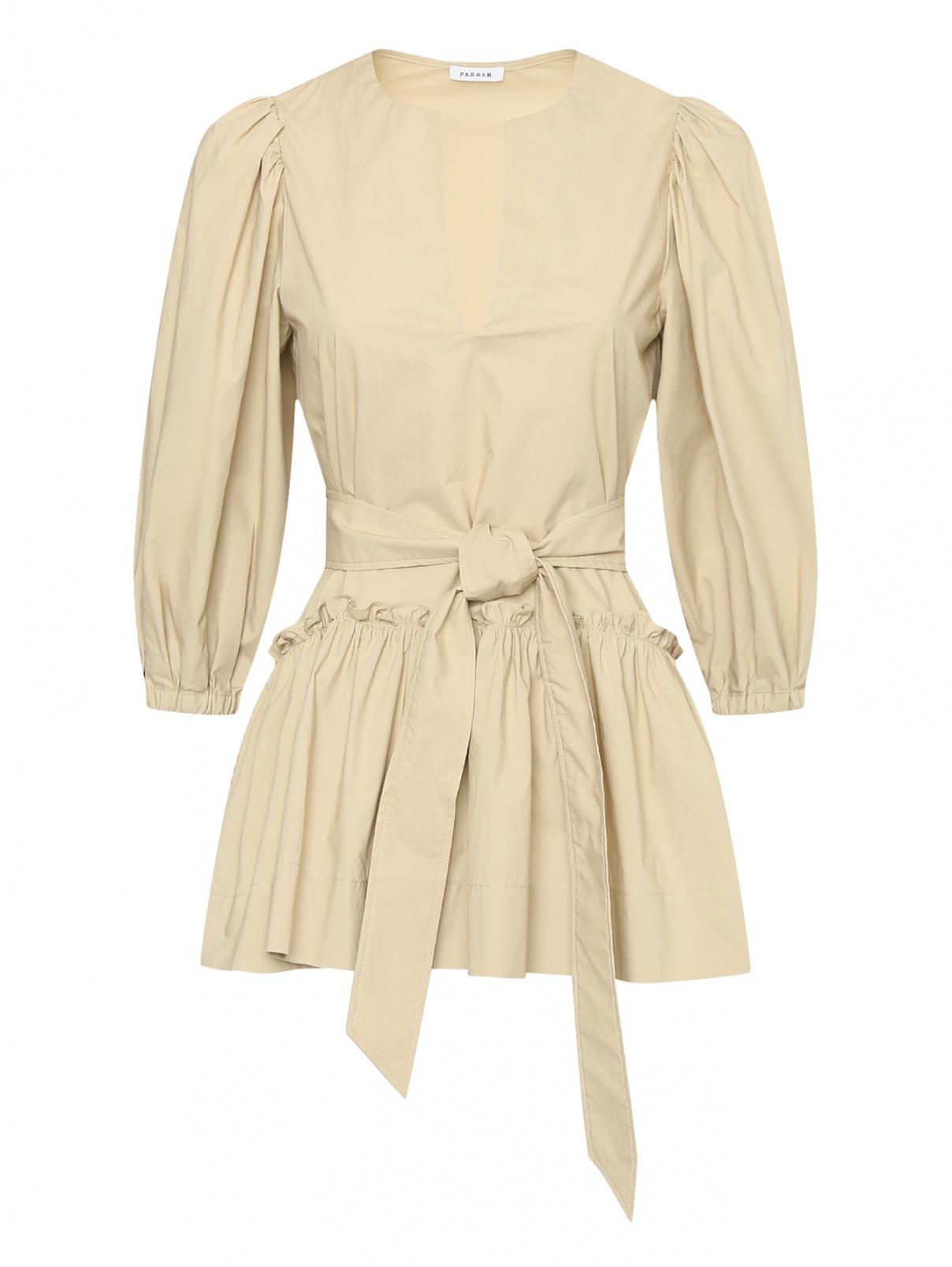 Блуза из хлопка с поясом P.A.R.O.S.H.  –  Общий вид