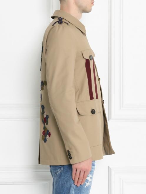 Куртка на пуговицах с аппликацией - МодельВерхНиз2
