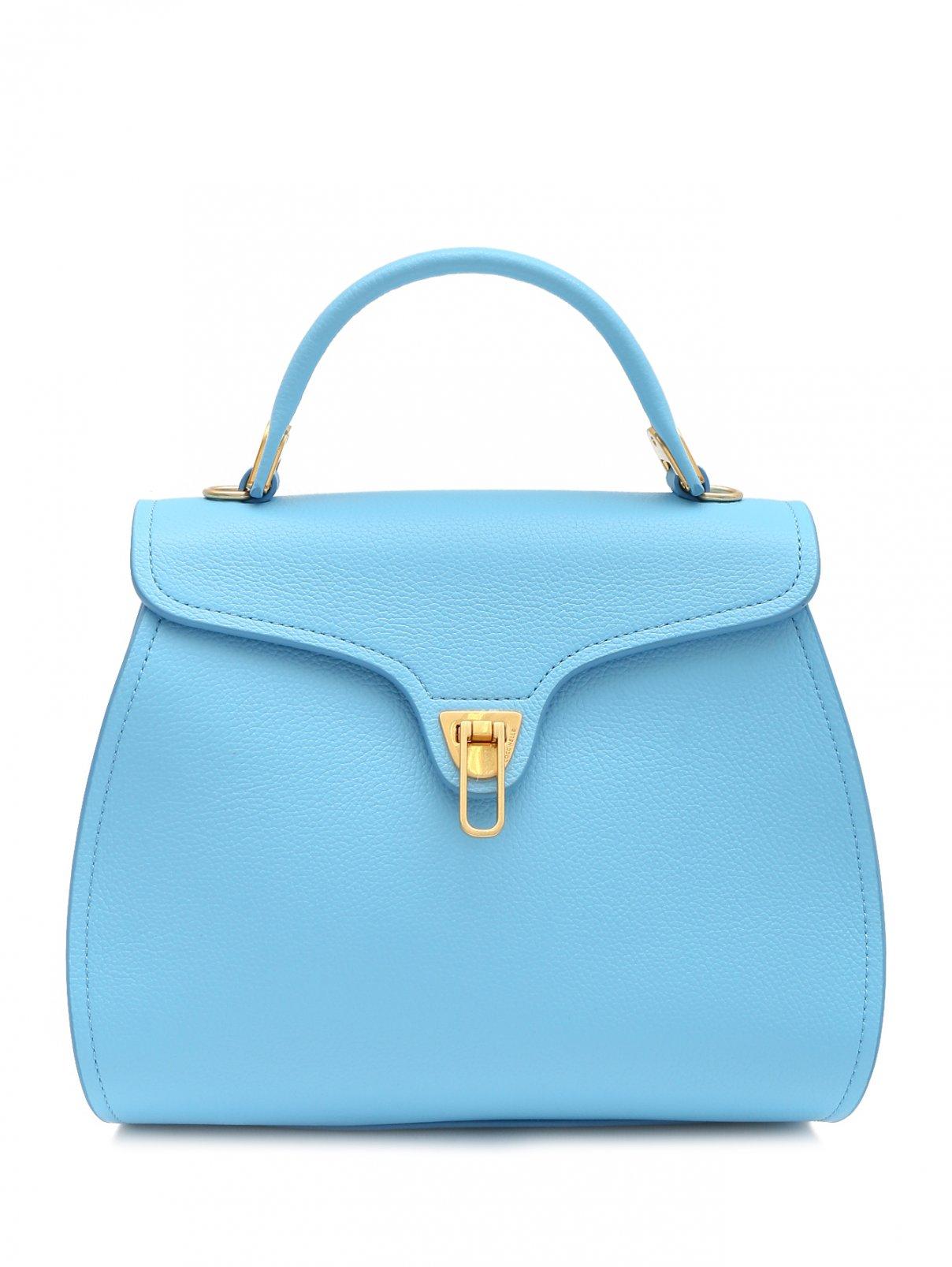 Кожаная сумка с металлической фурнитурой Coccinelle  –  Общий вид