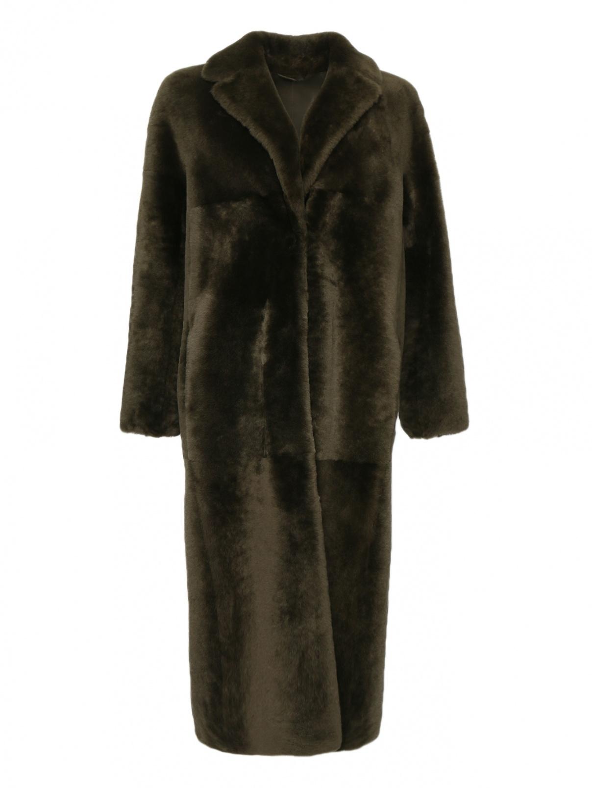 Меховое пальто с карманами Max Mara  –  Общий вид