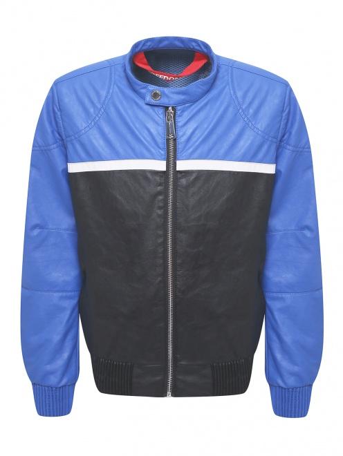 Куртка байкерская из экокожи Freedomday - Общий вид