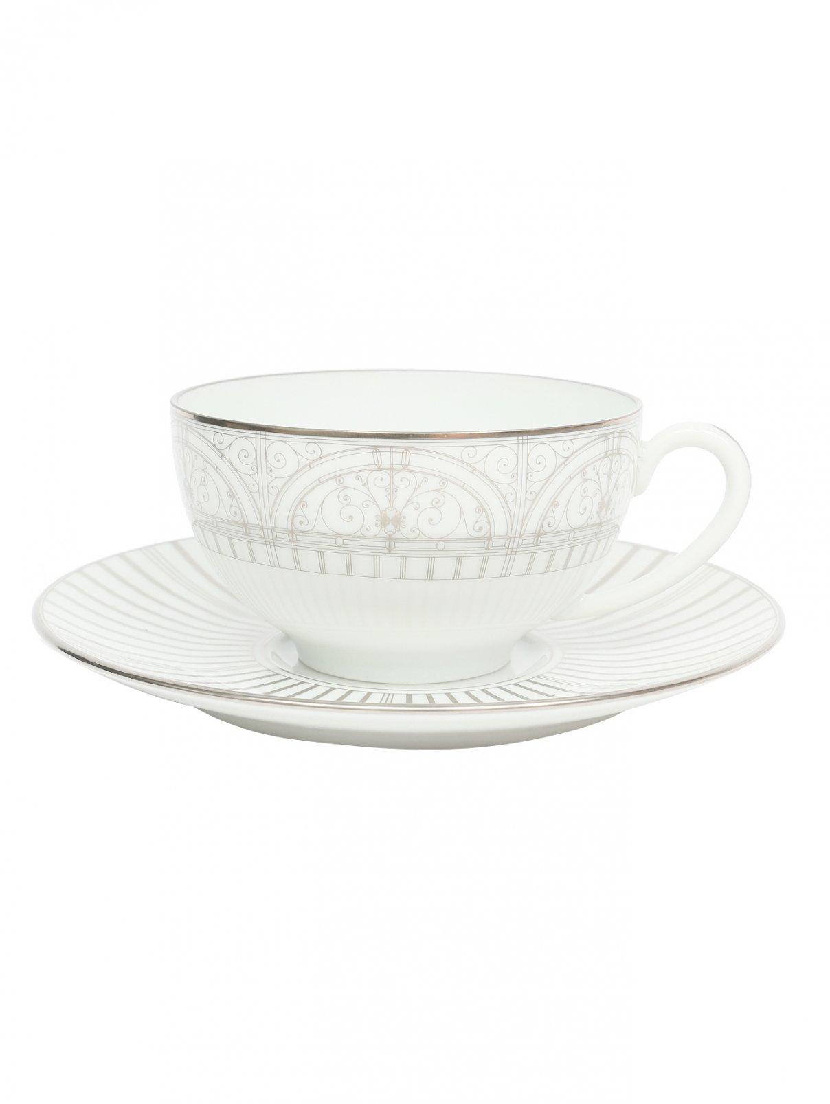 Чайная чашка из фарфора с блюдцем Haviland  –  Общий вид