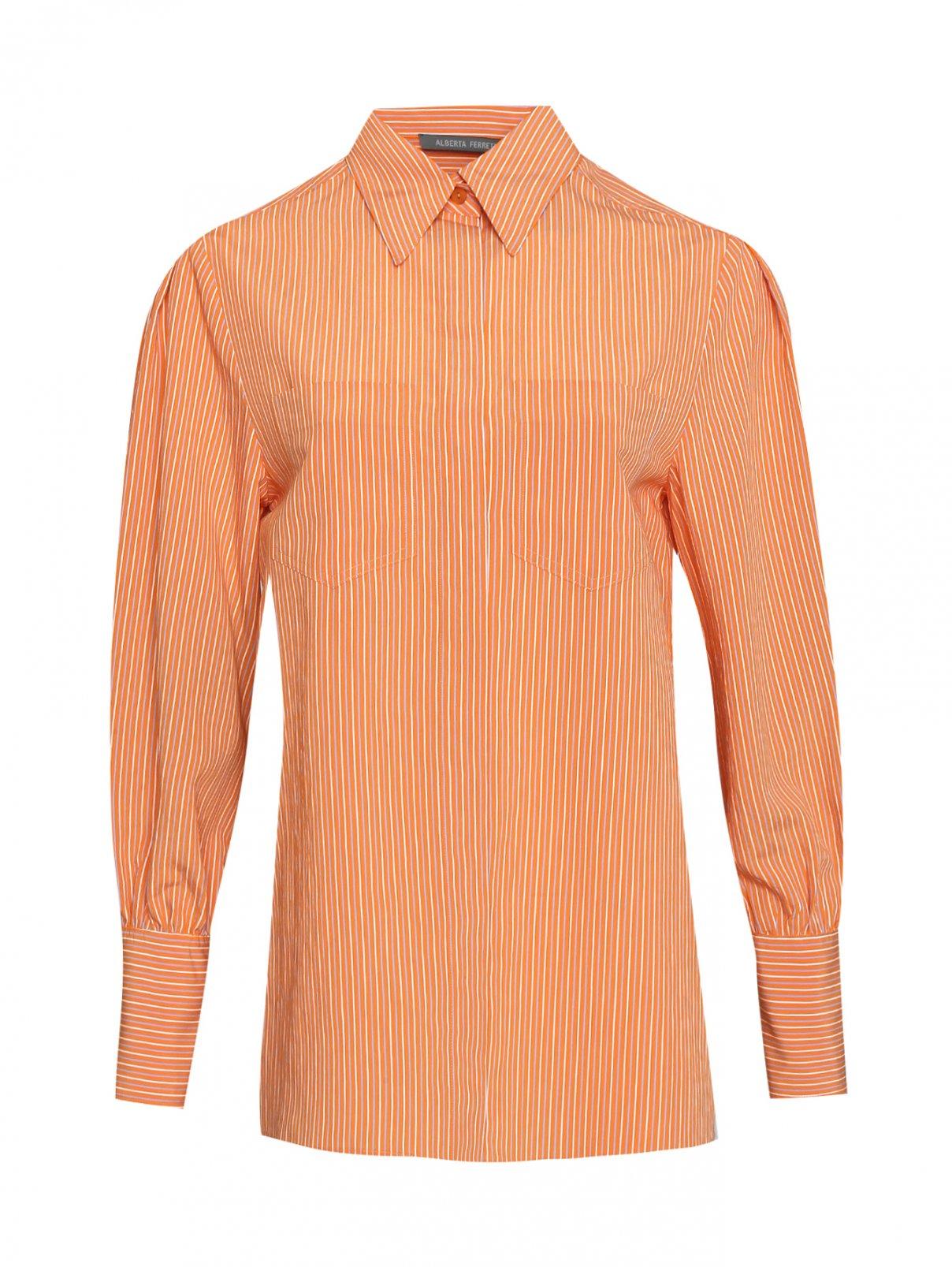 Рубашка из вискозы в полоску Alberta Ferretti  –  Общий вид