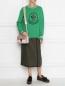 Джемпер из шерсти и кашемира с рисунком Moncler  –  МодельОбщийВид