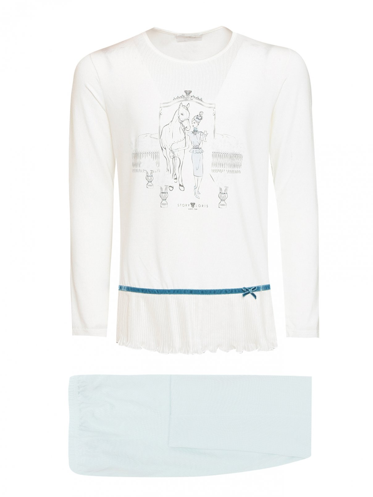 Пижама из модала с узором Story Loris  –  Общий вид