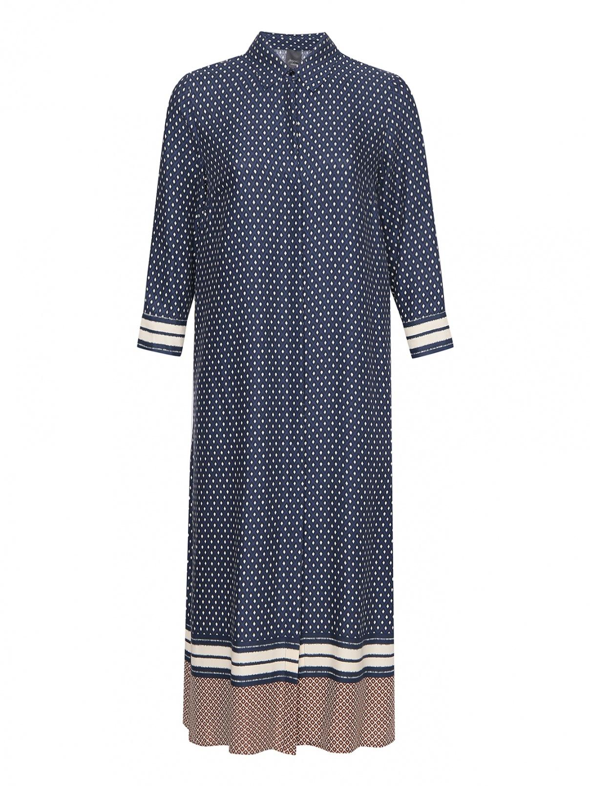 Платье прямого кроя с узором Persona by Marina Rinaldi  –  Общий вид