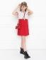 Платье спортивное из хлопка Moncler  –  МодельОбщийВид