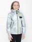 Куртка ветрозащитная из ткани с эффеком металлик Diesel  –  МодельВерхНиз