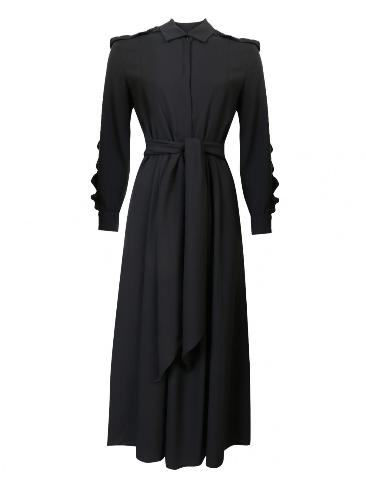 Платье с оборками на рукавах Weekend Max Mara  –  Общий вид
