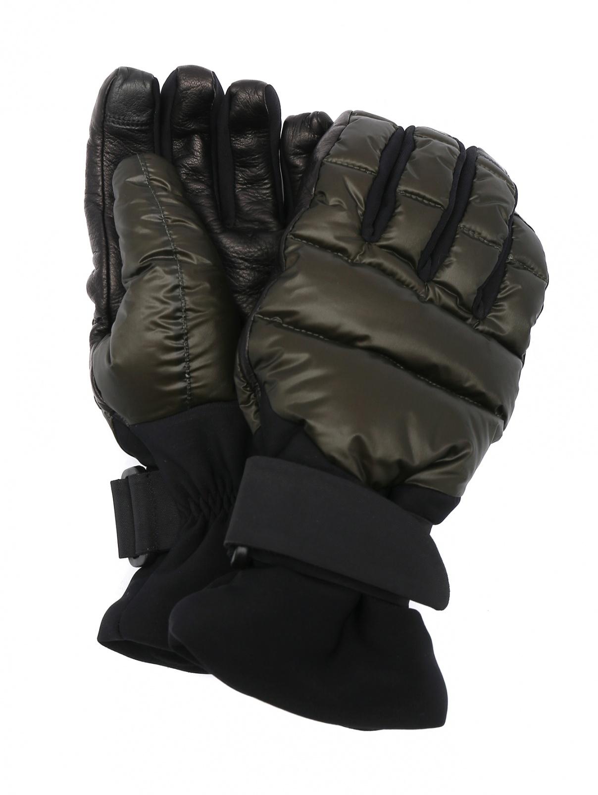 Стеганные пуховые перчатки Moncler  –  Общий вид