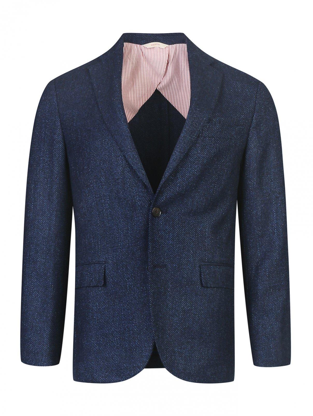 Пиджак из шерсти и шелка с узором Brooks Brothers  –  Общий вид