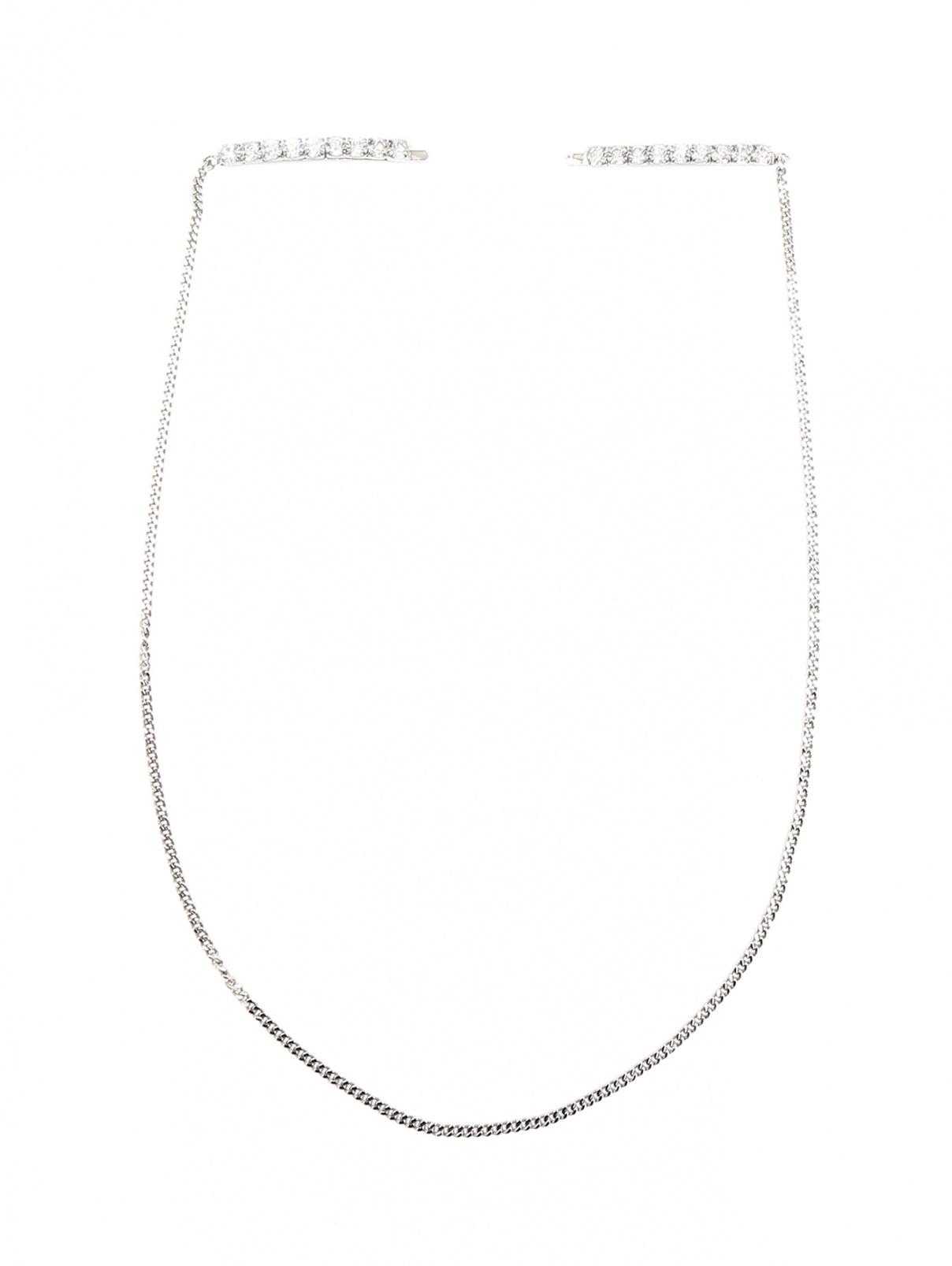 Заколка для волос из металла с кристаллами MM6  –  Общий вид