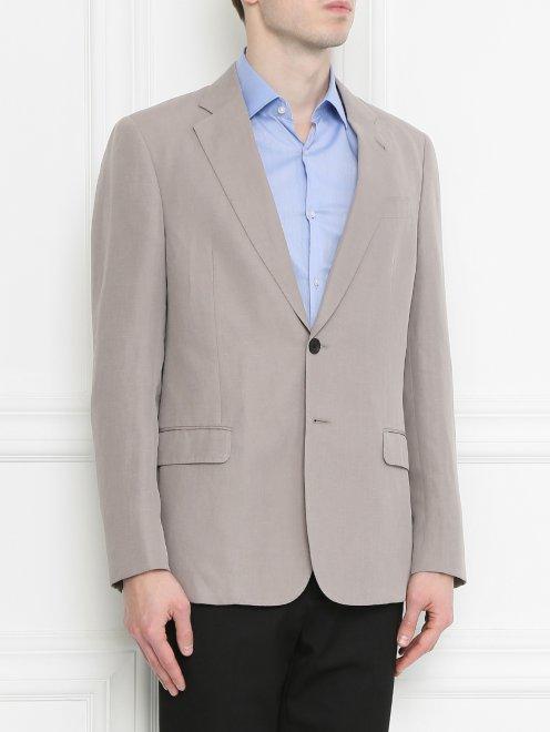 Пиджак из льна - МодельВерхНиз