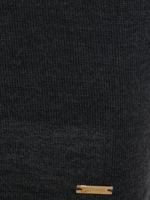 Платье-мини из шерсти - Деталь