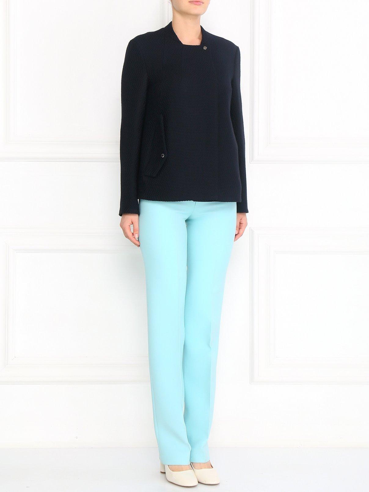 Прямые брюки из шерсти со стрелками Chapurin  –  Модель Общий вид