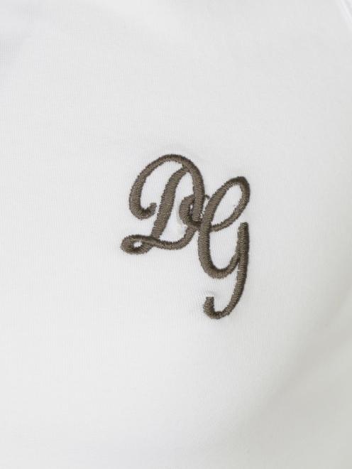 Майка из хлопка Dolce & Gabbana - Деталь1