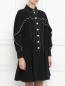 Платье с контрастной отделкой Sportmax  –  Модель Верх-Низ