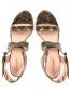 Босоножки из фактурной кожи на устойчивом каблуке Alberta Ferretti  –  Обтравка4