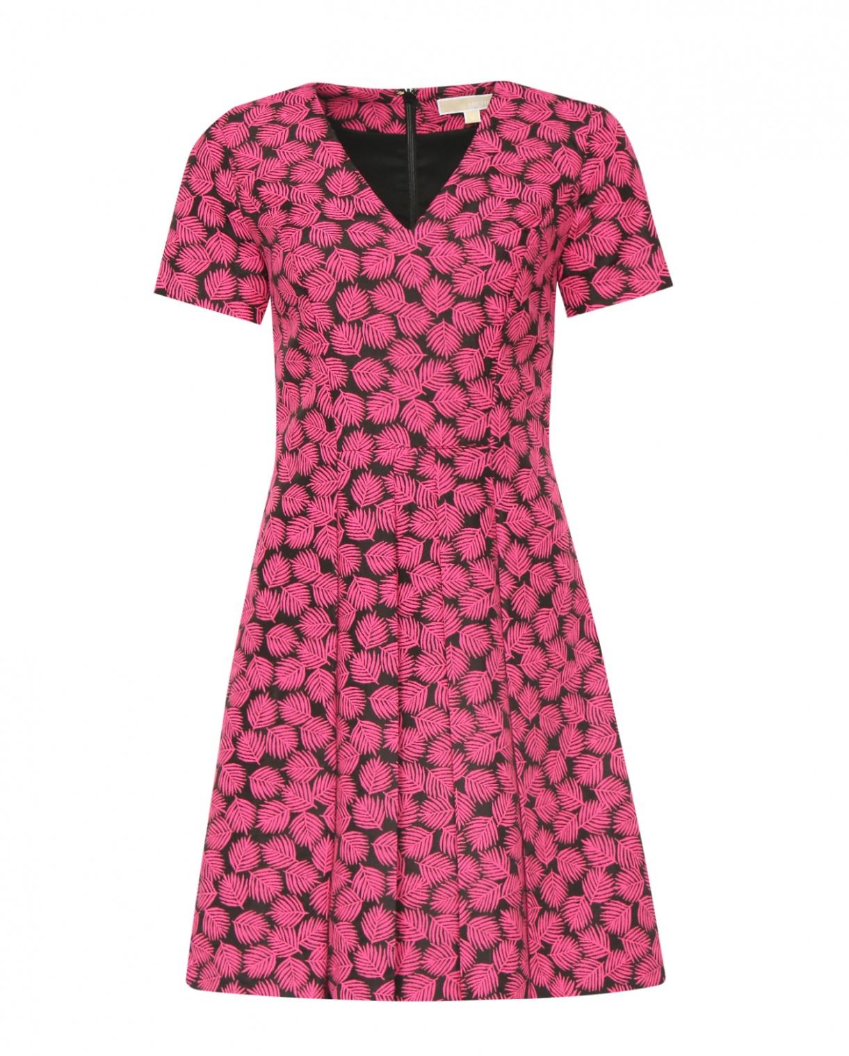 Платье из хлопка с узором Michael by Michael Kors  –  Общий вид