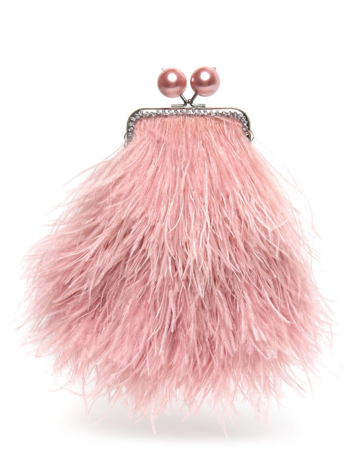 Клатч из перьев на цепочке Maison Esve  –  Общий вид