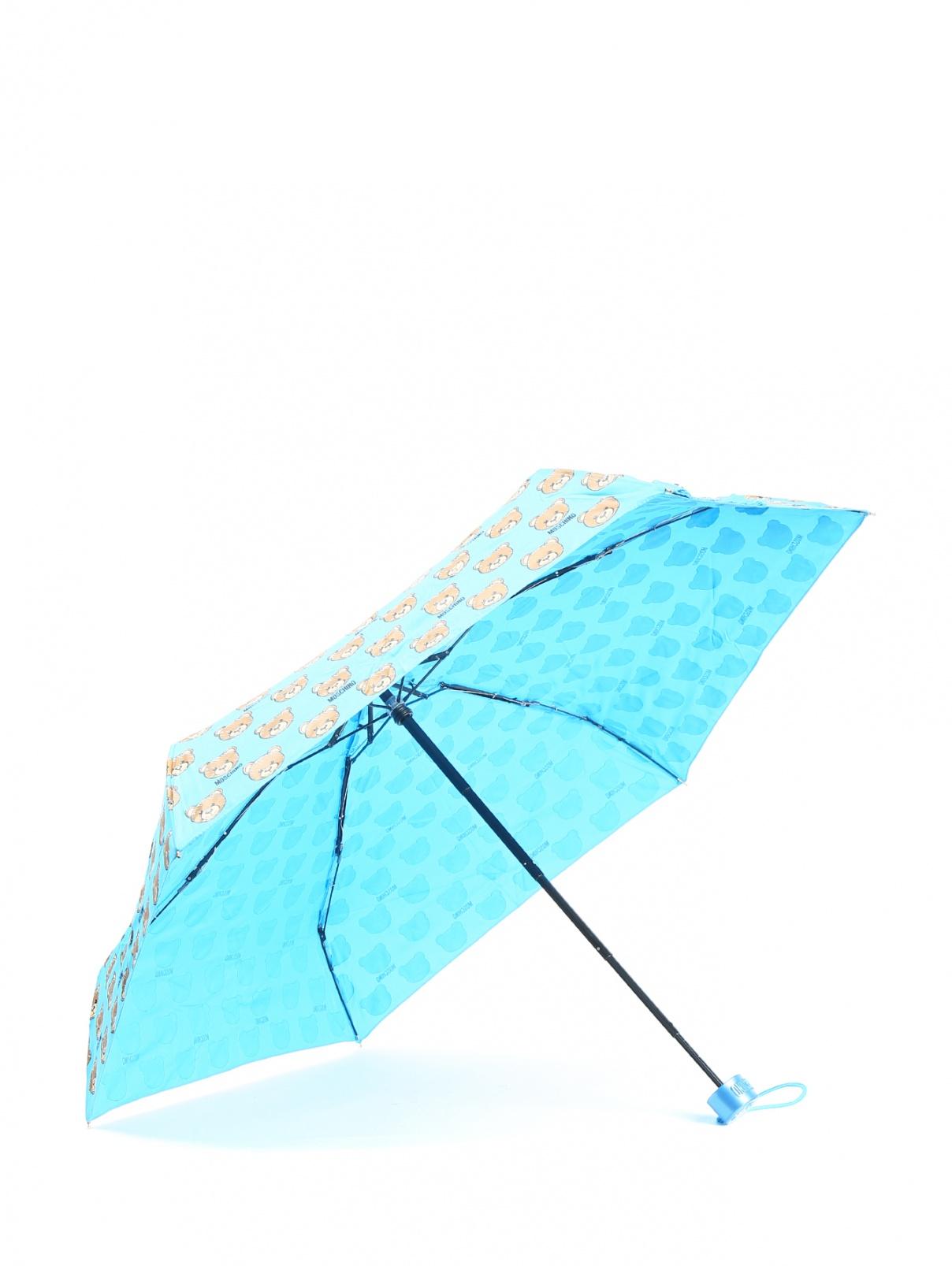Зонт механический в чехле с брелоком Moschino  –  Общий вид
