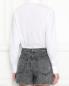 Рубашка из хлопка с принтом Love Moschino  –  МодельВерхНиз1