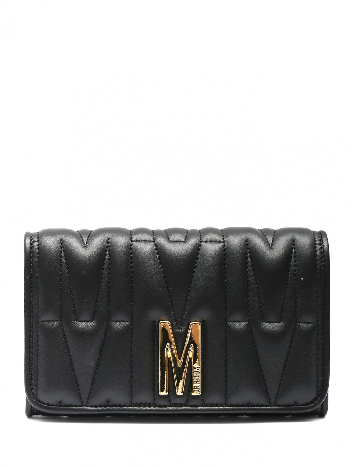 Стеганая сумка из кожи на цепочке Moschino  –  Общий вид