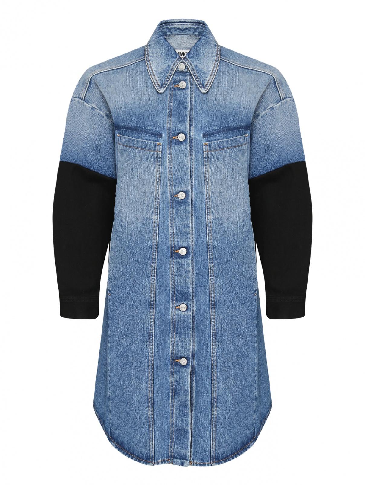 Комбинированная куртка из денима MM6  –  Общий вид