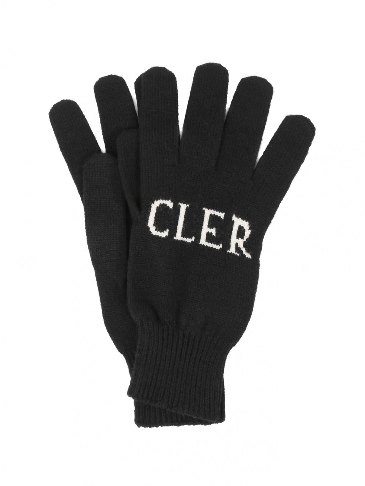 Перчатки трикотажные из шерсти Moncler  –  Общий вид