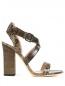 Босоножки из фактурной кожи на устойчивом каблуке Alberta Ferretti  –  Обтравка1