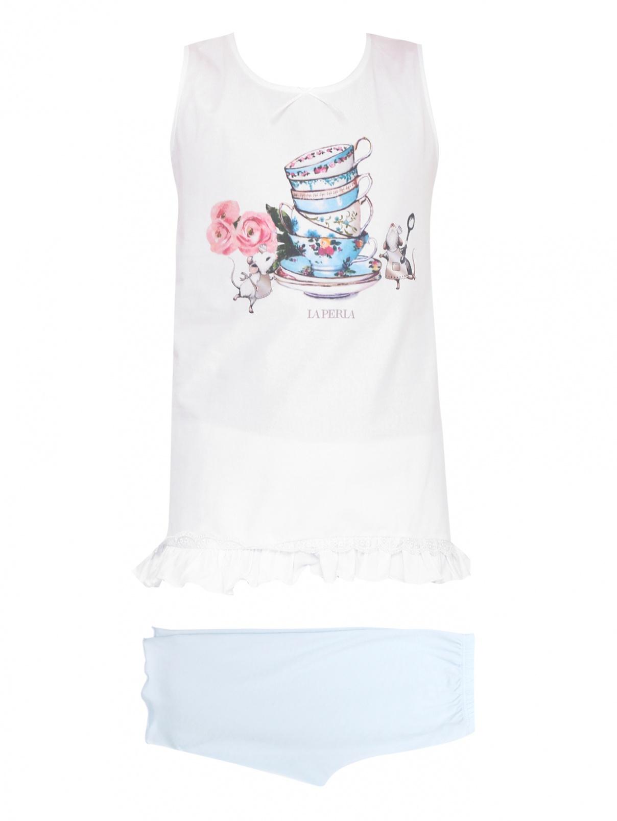 Пижама трикотажная с принтом La Perla  –  Общий вид