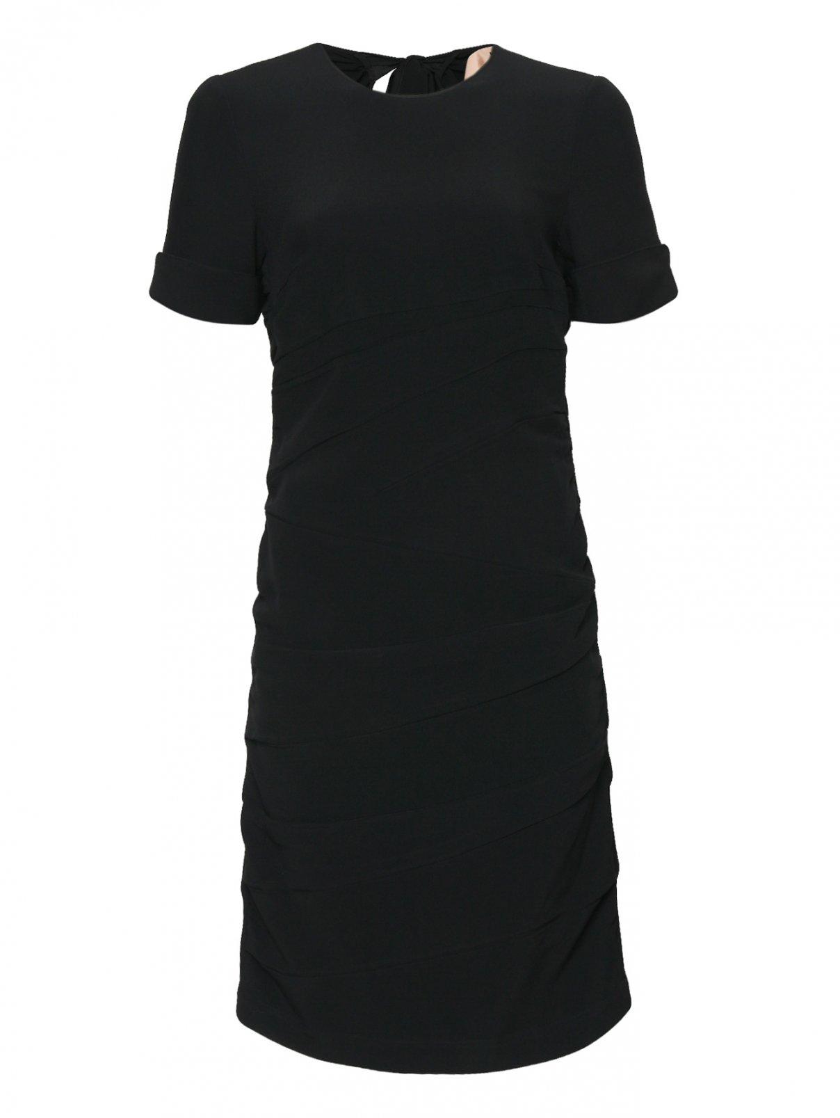 Платье-миди с драпировкой N21  –  Общий вид