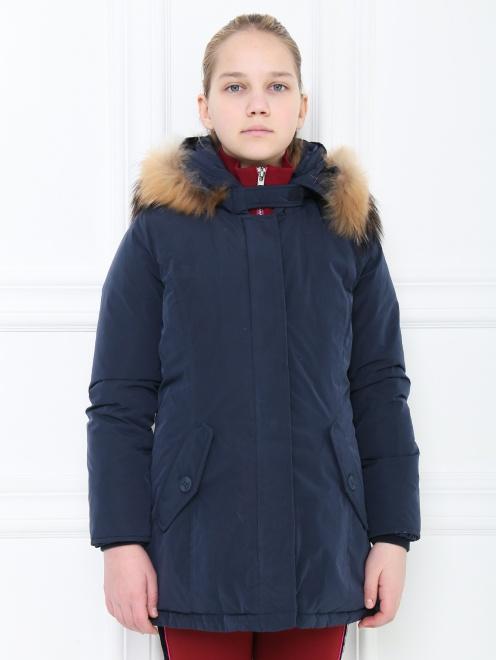 Куртка трапеция с капюшоном - МодельВерхНиз