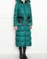 Пуховик на молнии с меховой отделкой Blanchett Goos  –  МодельВерхНиз