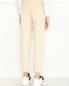 Вельветовые брюки на резинке с карманами Panicale Cashmere  –  МодельВерхНиз1