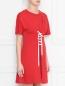 Платье хлопковое, с декоративной шнуровкой Love Moschino  –  МодельВерхНиз