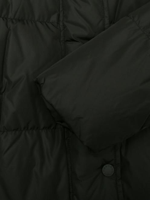 Пуховик на молнии с капюшоном и меховой отделкой - Деталь1