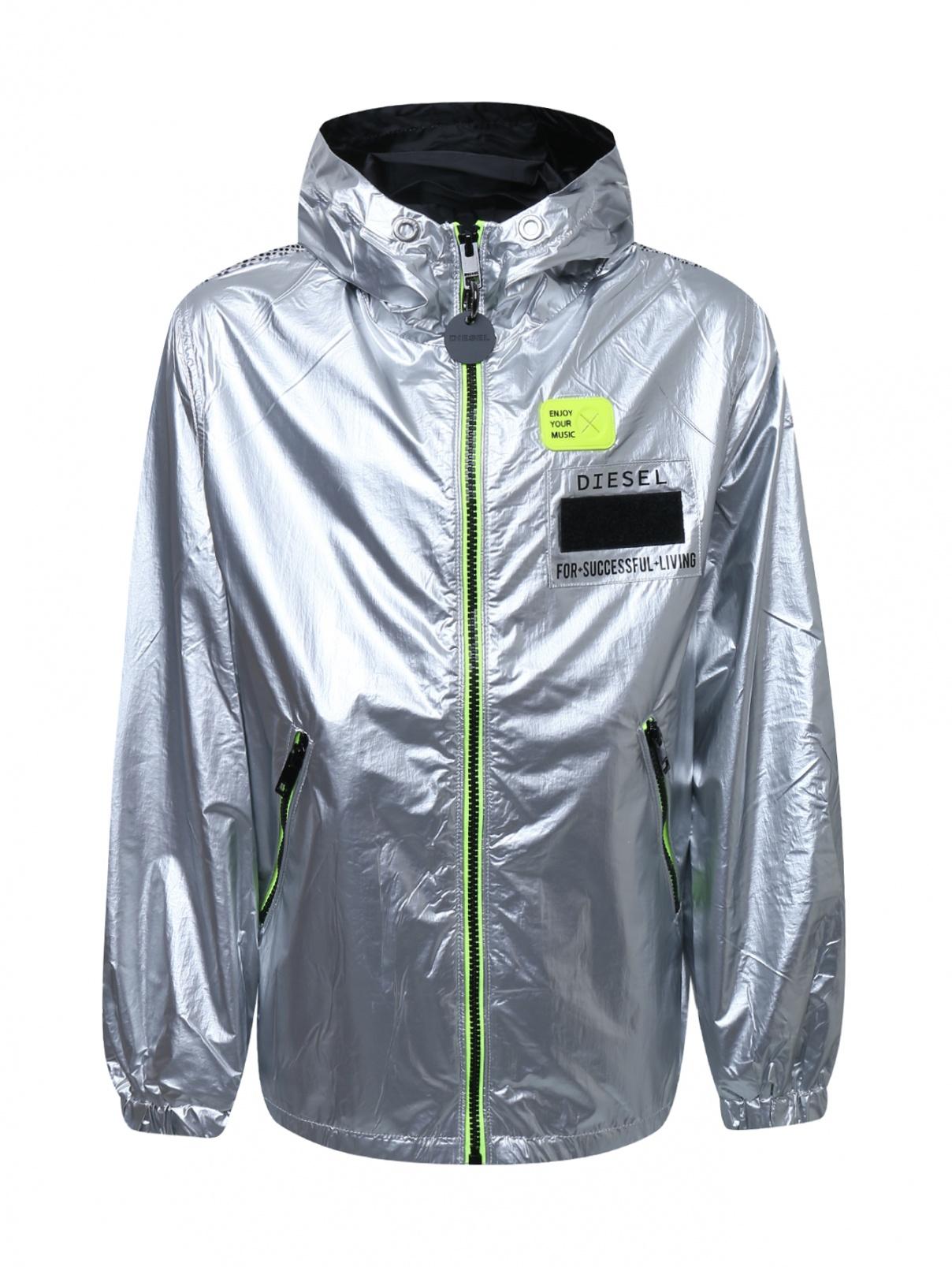 Куртка ветрозащитная из ткани с эффеком металлик Diesel  –  Общий вид