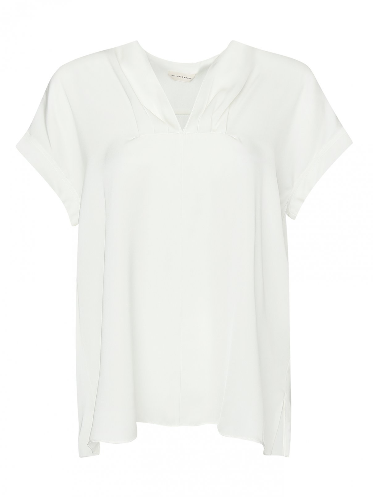 Блуза из шелка с драпировкой By Malene Birger  –  Общий вид