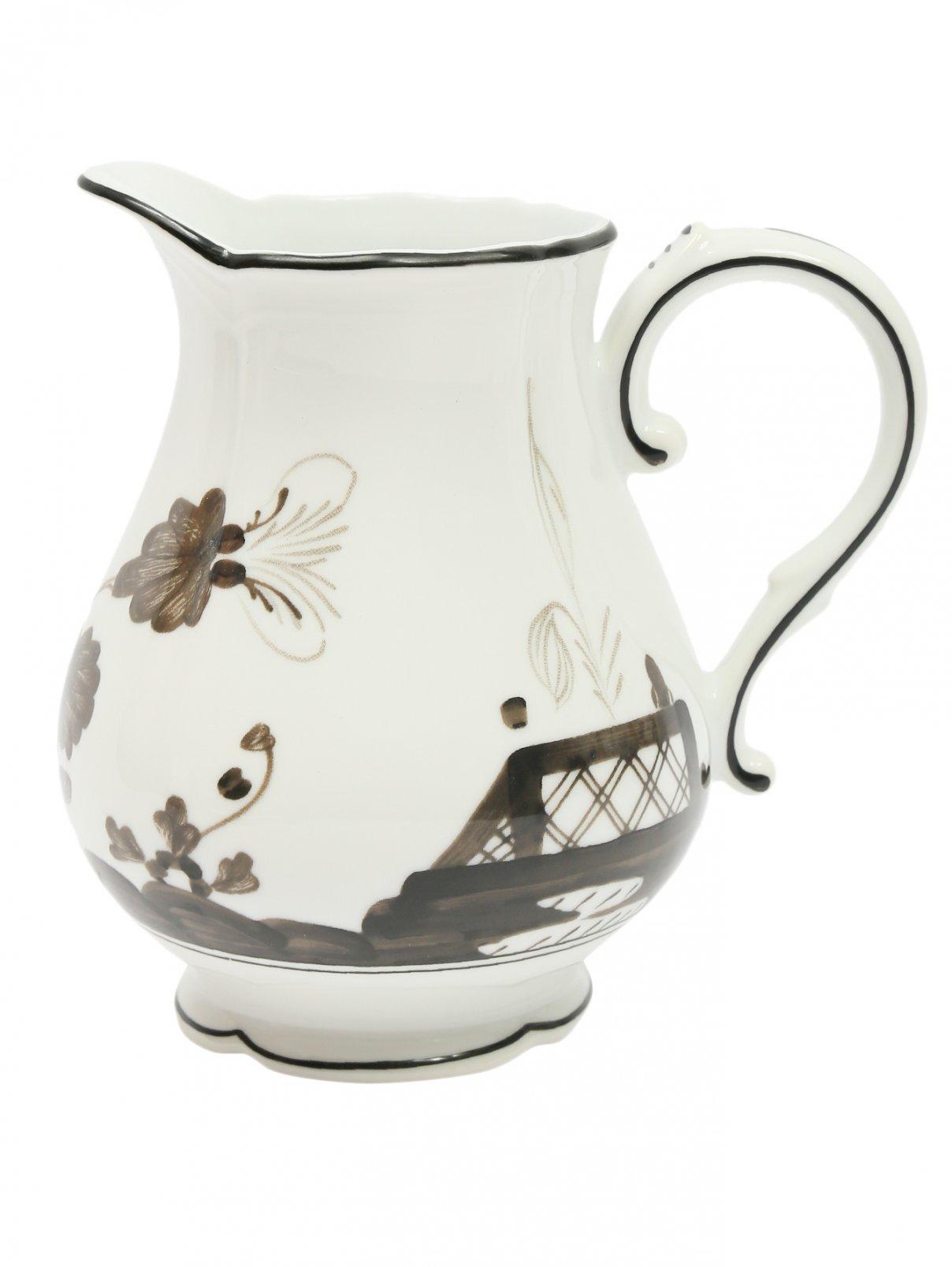 Молочник из фарфора с узором и окантовкой Richard Ginori 1735  –  Общий вид