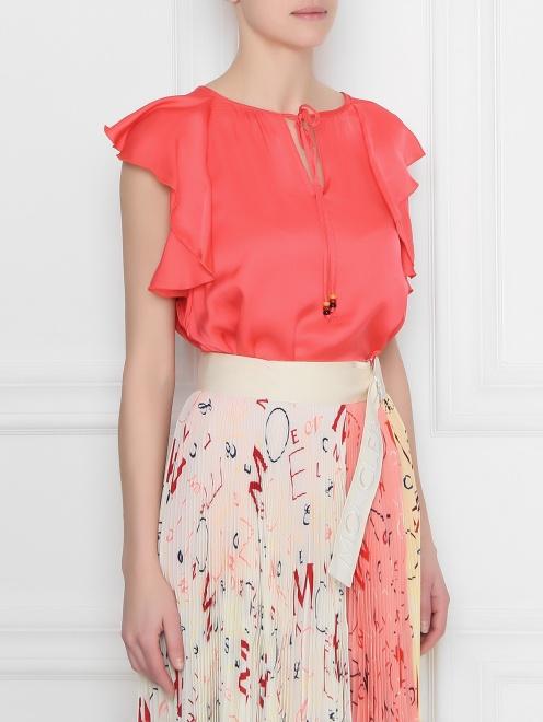 Блуза из вискозы с воланам DEHA - МодельВерхНиз