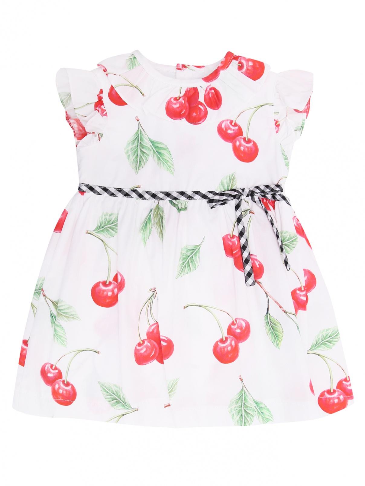 Хлопковое платье с фруктовым узором Aletta  –  Общий вид